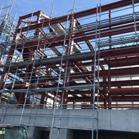 名古屋市内の研修棟鉄骨建設
